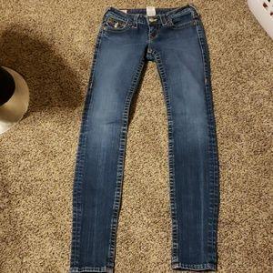 Size 26 true religion skinny jeans julie fit